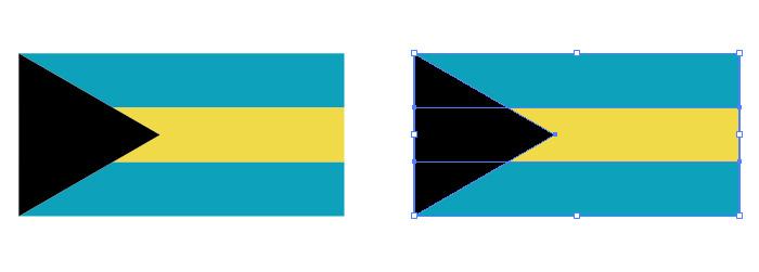 黒・青・黄の組み合わせからなるバハマの国旗