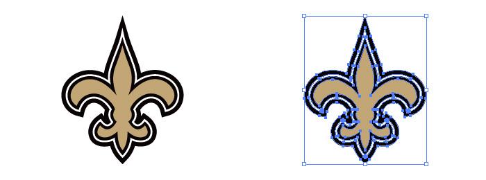 ニューオーリンズ・セインツ(The New Orleans Saints)のロゴマーク