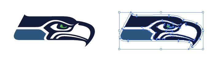 シアトル・シーホークス(Seattle Seahawks)のロゴマーク