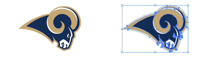 ロサンゼルス・ラムズ(Los Angeles Rams)のロゴマーク