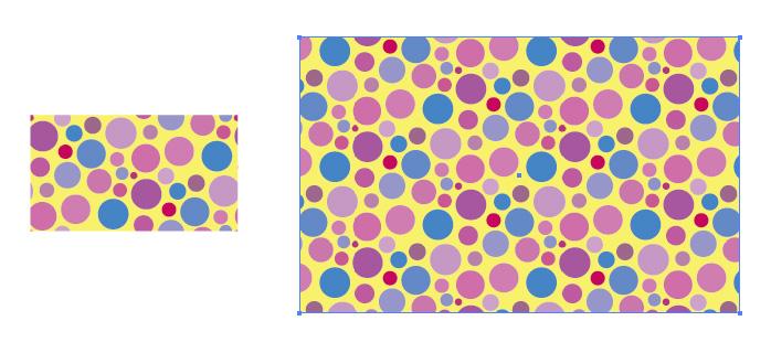 ランダムなマルチカラードットのパターン