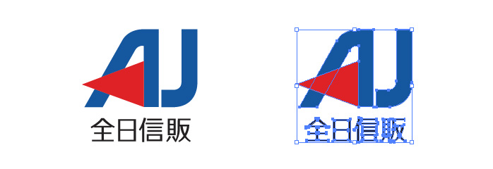 AJカード、全日信販のロゴマーク