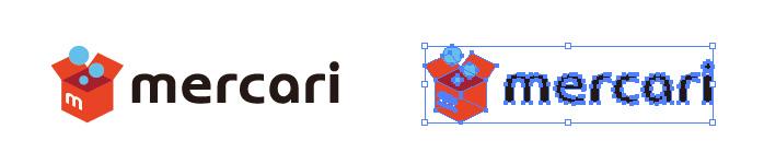 フリマアプリ、メルカリ(mercari)のロゴマークです。