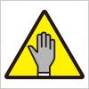 手袋着用の注意標識アイコンマーク