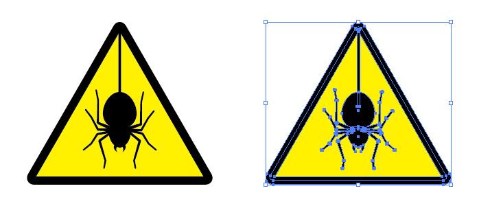 蜘蛛 クモ くも 注意 標識アイコンマーク