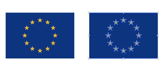 EU、欧州連合旗のパスデータ