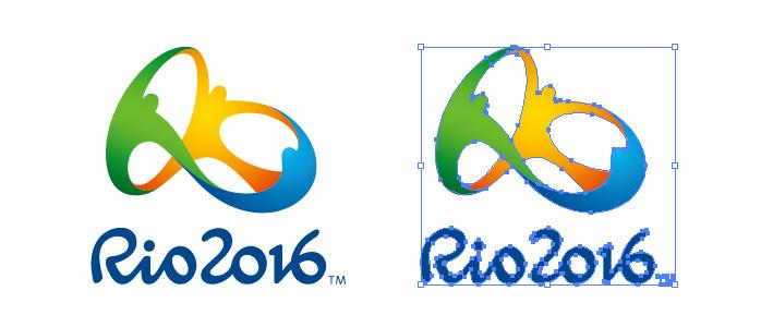 ブラジル、リオデジャネイロオリンピック 2016 ロゴマーク