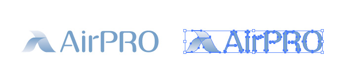 エアプロ(AirPRO)のロゴマーク