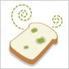 食パンのカビのイラスト