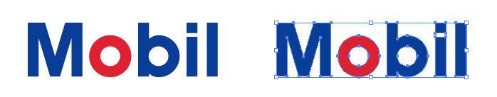 モービル(Mobil)のロゴマーク