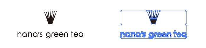 nana's green teaのロゴマーク