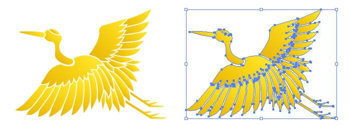 縁起の良さそうな鶴のイラスト