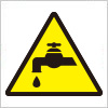 水道の出しっぱなし注意を表す標識アイコンマーク