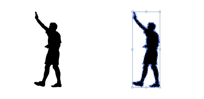 サッカーのカードを提示する審判のシルエットイラスト