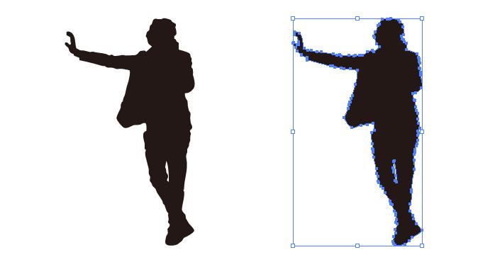 壁に手をかける男性のシルエット・影絵素材
