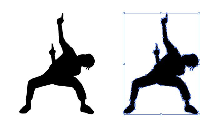 オタ芸・ダンスのシルエット・影絵素材