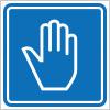 手をかざす等を表す案内標識アイコンマーク