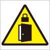 ドアへの施錠注意を表す標識アイコンマーク