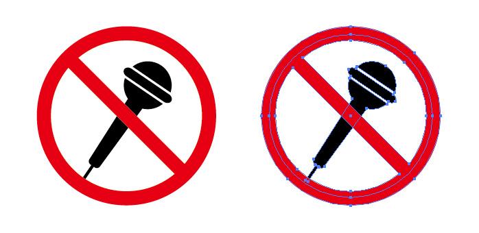 マイク使用禁止を表す標識アイコンマーク