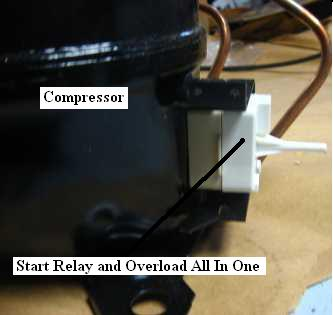 refrigerator compressor wiring diagram amp to sub not cooling repair guide start relay overload comb