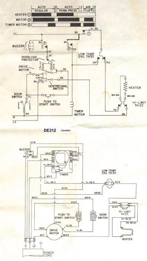 Appliantology Archive: Washer and Dryer Wiring Diagrams