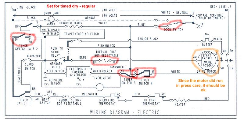 Whirlpool Dryer Schematic Wiring Diagram & Wiring Diagram For A