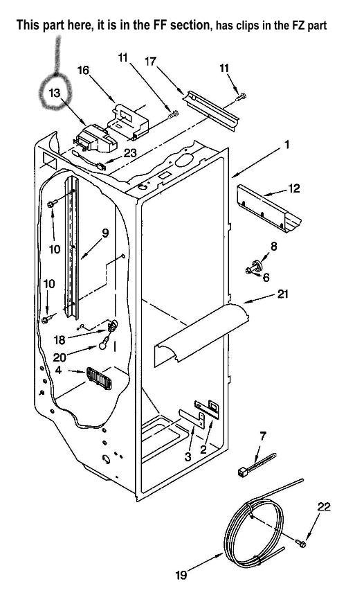 Kenmore Refrigerator Wire Diagram Model 253 : 43 Wiring