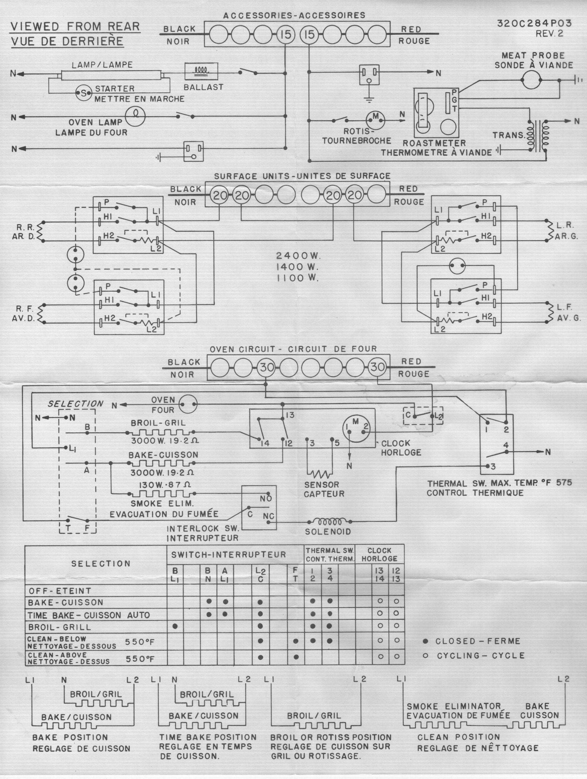 Frigidaire Stove Wiring Diagram Frigidaire Electric Range Wiring