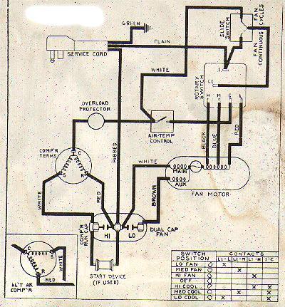 Wiring Diagram Window Ac | Window Ac Schematic Wiring Diagram |  | Wiring Diagram