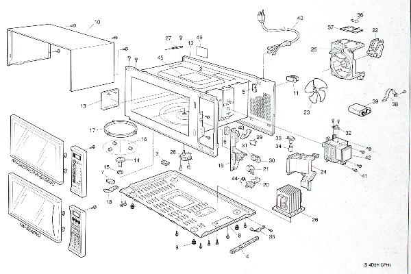 cabinet parts diagram and parts list for panasonic microwaveparts