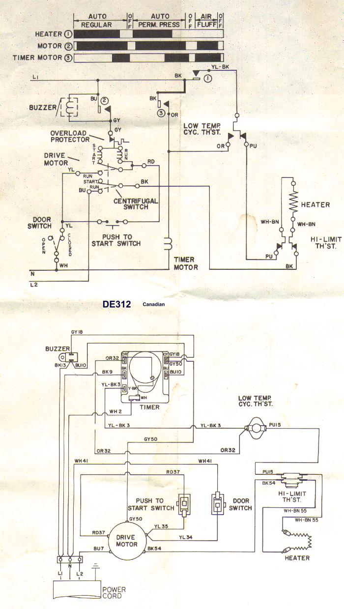 Wiring Diagram For Frigidaire Gallery Dryer