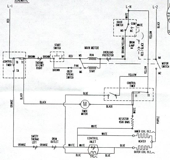 ge washer wiring schematic