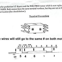 Ge Electric Motor Wiring Diagram Ceiling Fan With Red Wire Dryer Replacement Appliance Aid Terminal Connections
