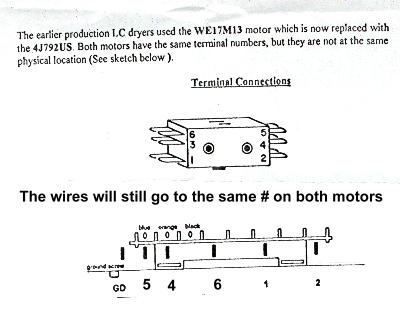 ge electric motor wiring diagram lighting ring main dryer replacement appliance aid terminal connections