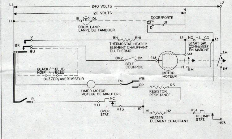 Wiring Diagram Of Whirlpool Dryer