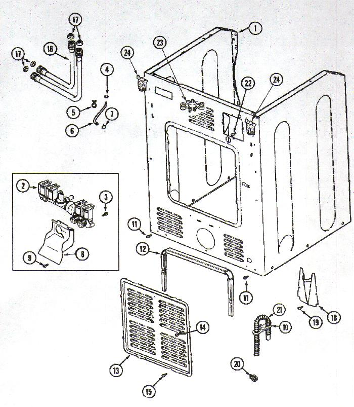 Washer Parts: Parts List For Maytag Washer