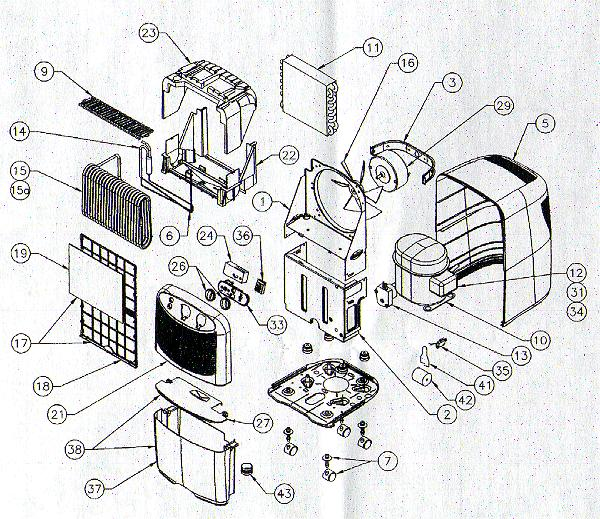 [DIAGRAM] Hisense Dehumidifier Parts Diagram