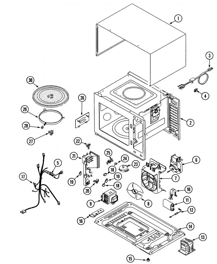 in jenn air microwave