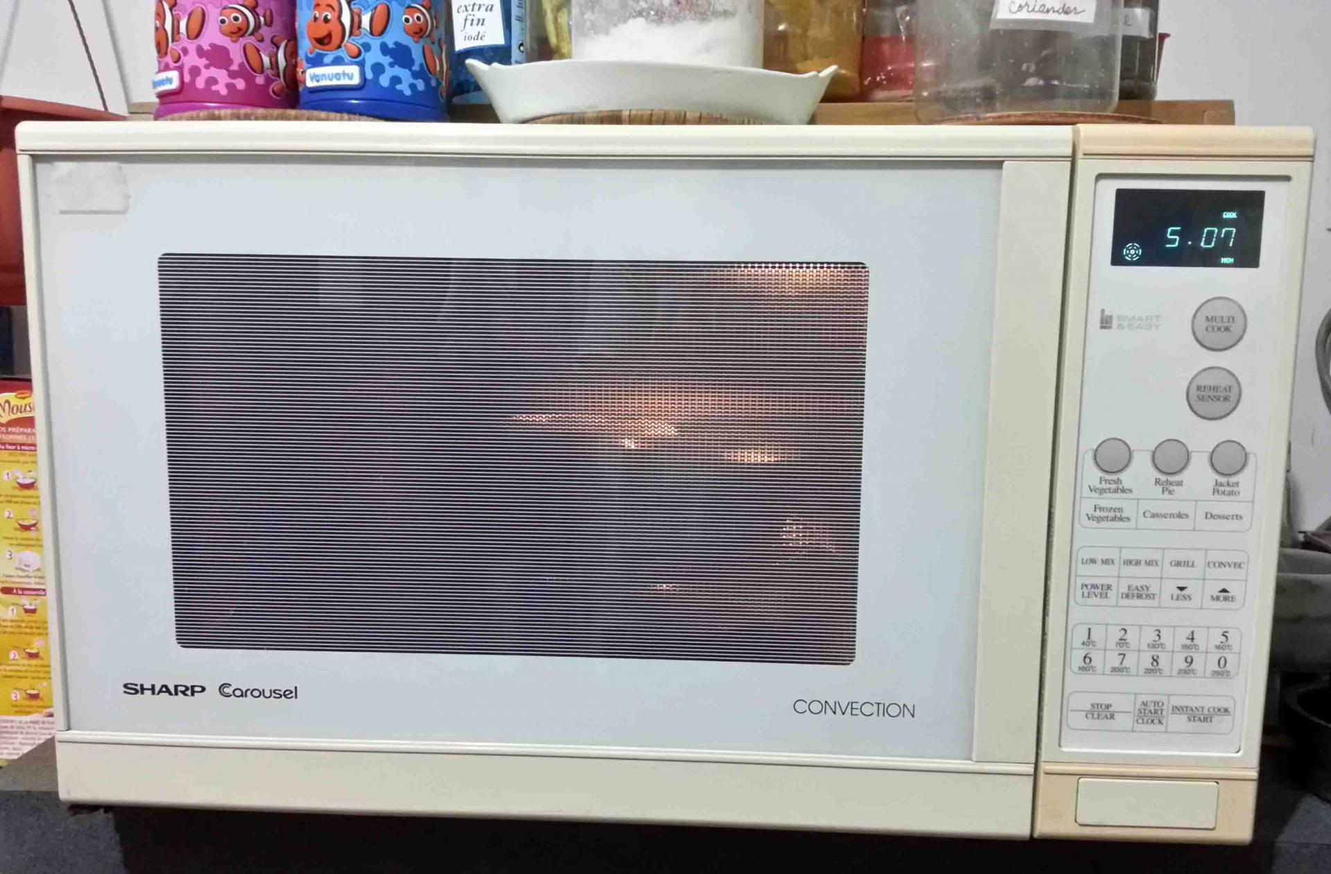 fixed sharp carousel convection oven