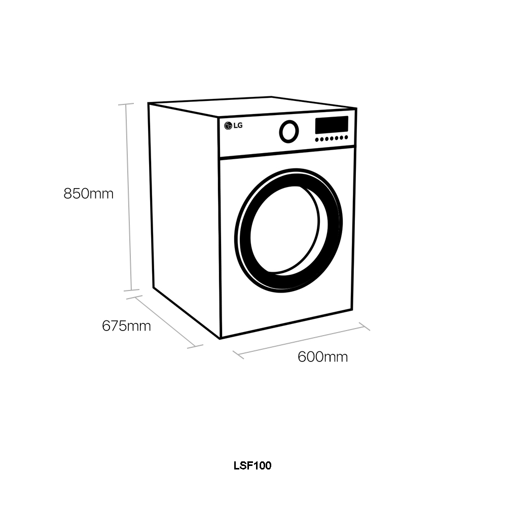 LG LSF100 12kg Signature Steam Washing Machine 1600rpm