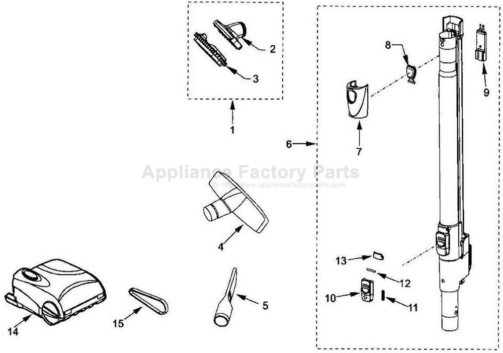 Vacuum Parts: Kenmore Vacuum Parts Model 116