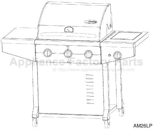 Amana AM26LP BBQ Parts