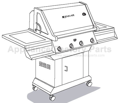 Jenn Air JA580 BBQ Parts