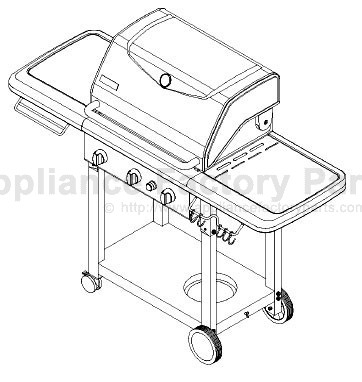 Kenmore 141.16221 BBQ Parts