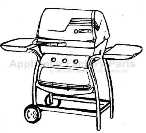 Propane Gas: Kenmore Liquid Propane Gas Grill Model 415