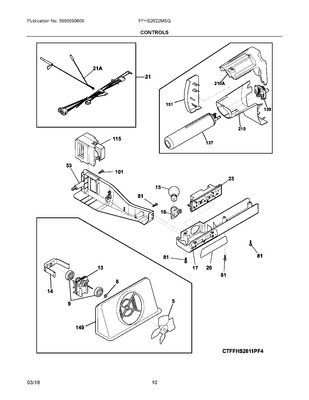 242077701 : FRIGIDAIRE REFRIGERATOR EVAPORATOR FAN MOTOR