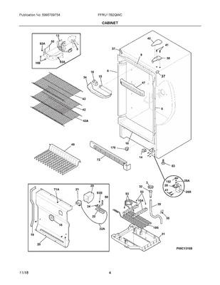 297441905 : Frigidaire Refrigerator Freezer Wire Shelf