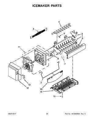 WPW10351019 : WHIRLPOOL REFRIGERATOR ICE MAKER ARM