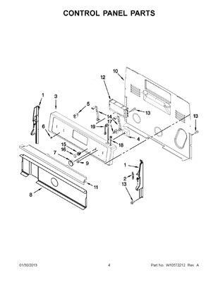 W10349740 : WHIRLPOOL RANGE ELECTRONIC CONTROL BOARD