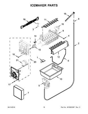 W10281342 : WHIRLPOOL REFRIGERATOR ICE MAKER MODULE MOTOR